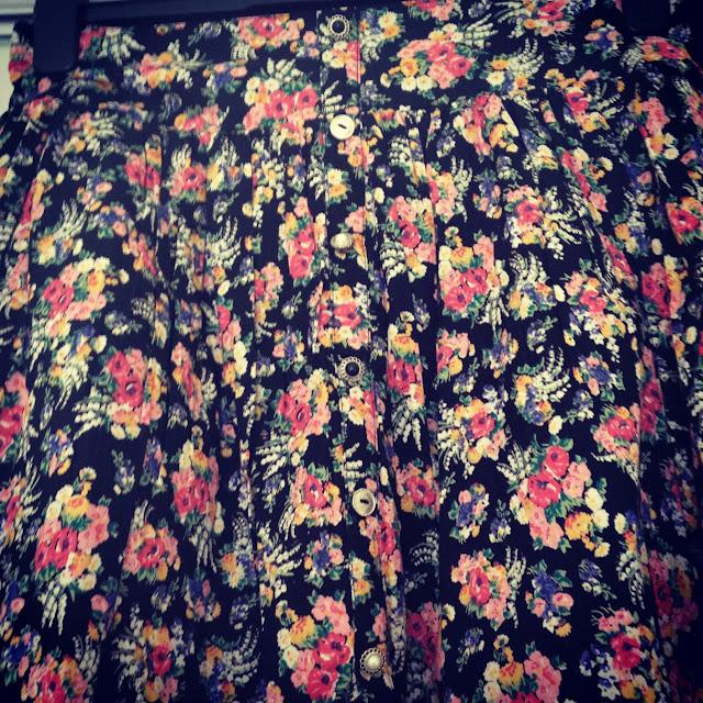 Black Floral Skirt Primark
