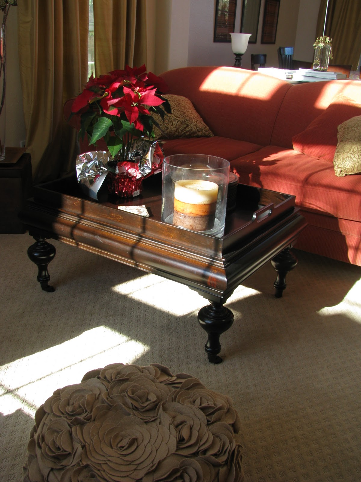 That is my coffee table in my living room it is also an exact replica of the restoration hardware piece pictured above the difference