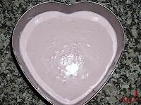 Tarta Petit Suisse-mezcla en el molde