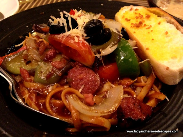 Sicilian Pasta at Afrique's Ilo-ilo