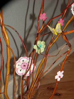 Spring Tree, Flowers, Crochet
