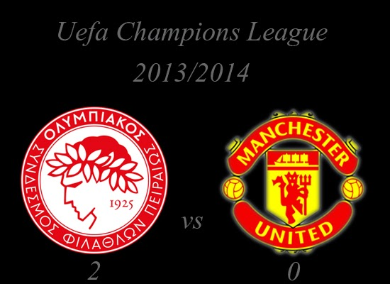 Olympiacos vs Manchester United Result February 2014