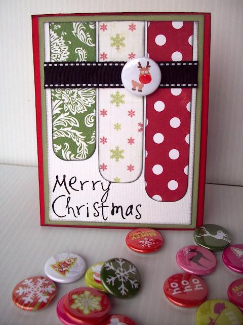 Merry Christmas Card Tutorial on www.summerscraps.com