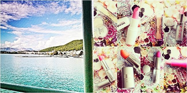 Instagram @lelazivanovic. Igumenitsa port. Budget makeup haul.