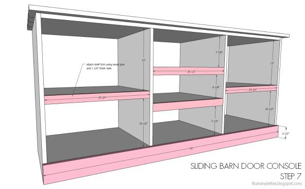diy console shelf trim