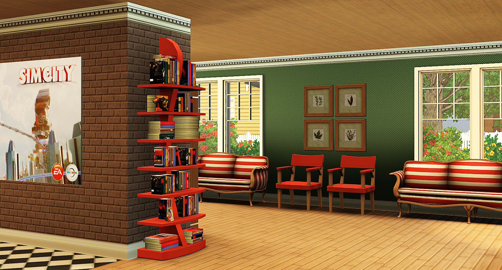 Wonderful image of lot and features an array of activities for all ages. Bookshelves  with #B92712 color and 1600x861 pixels