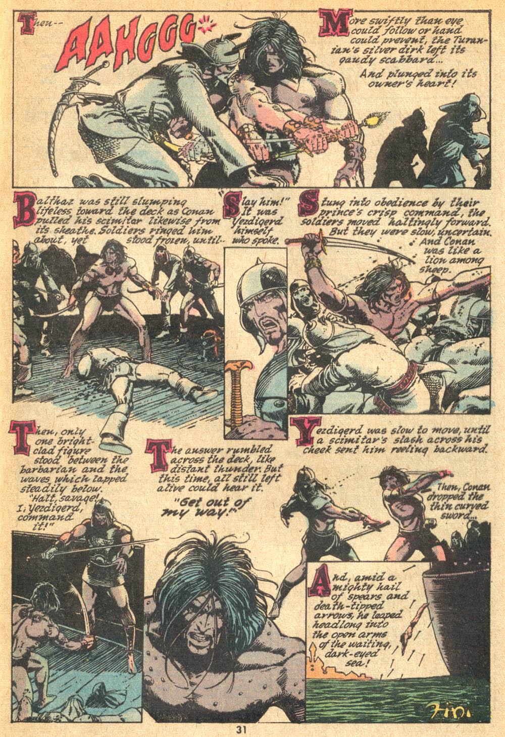 Conan the Barbarian (1970) Issue #20 #32 - English 21