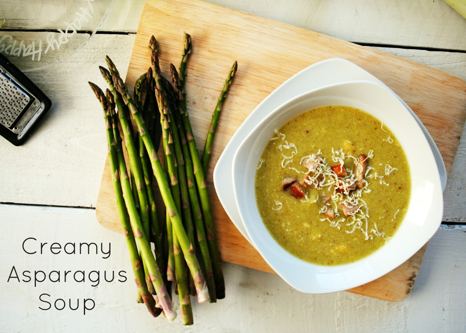 ... of Garlic, A Pinch of Salt: Creamy Asparagus Soup with Chicken Sausage
