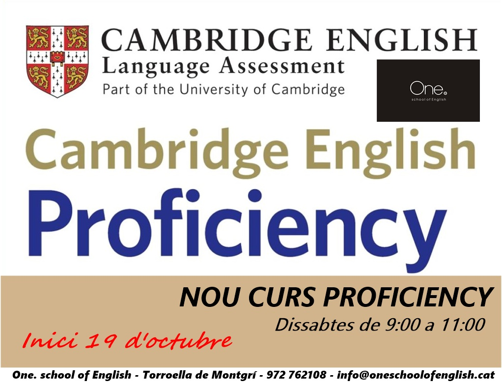 NOU CURS PROFICIENCY