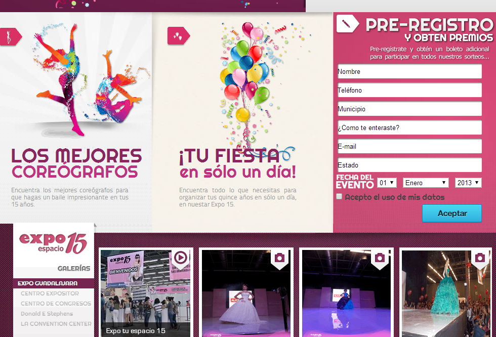 Expo 15 años Guadalajara 2014