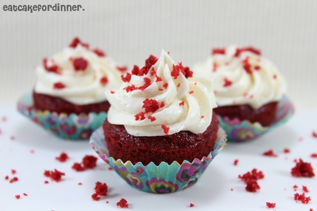 My regular, go-to, red velvet cupcake recipe requires the use of 5 ...