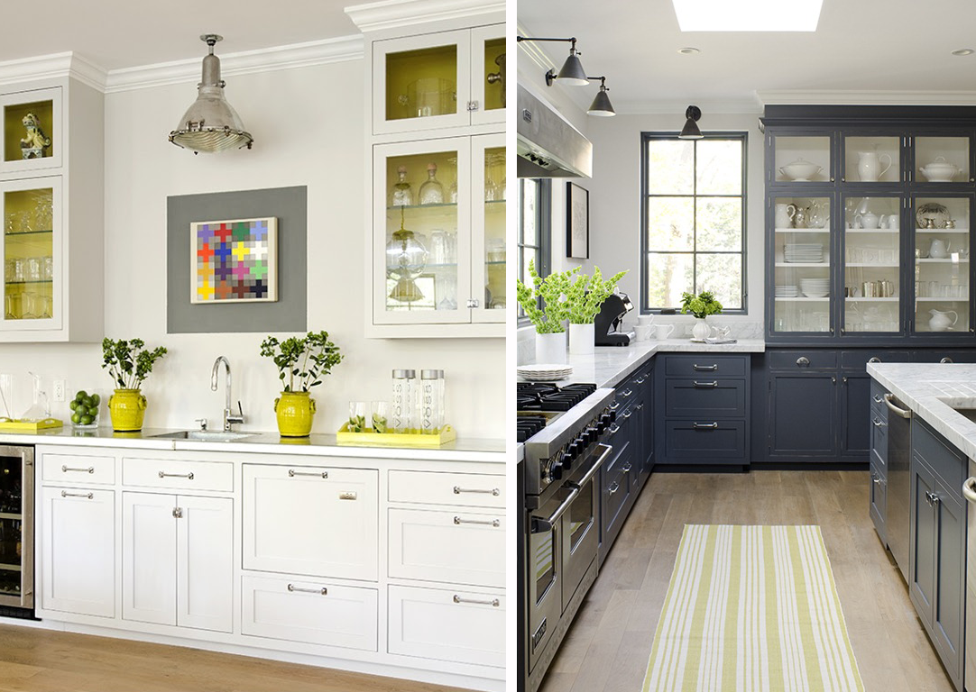 Stephmodo gorgeous gray kitchen with yellow accents for Yellow and gray kitchen