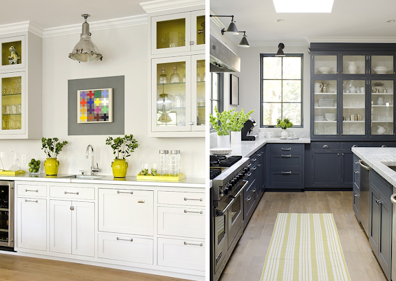 Gray And Yellow Kitchen Island Painted Chelsea