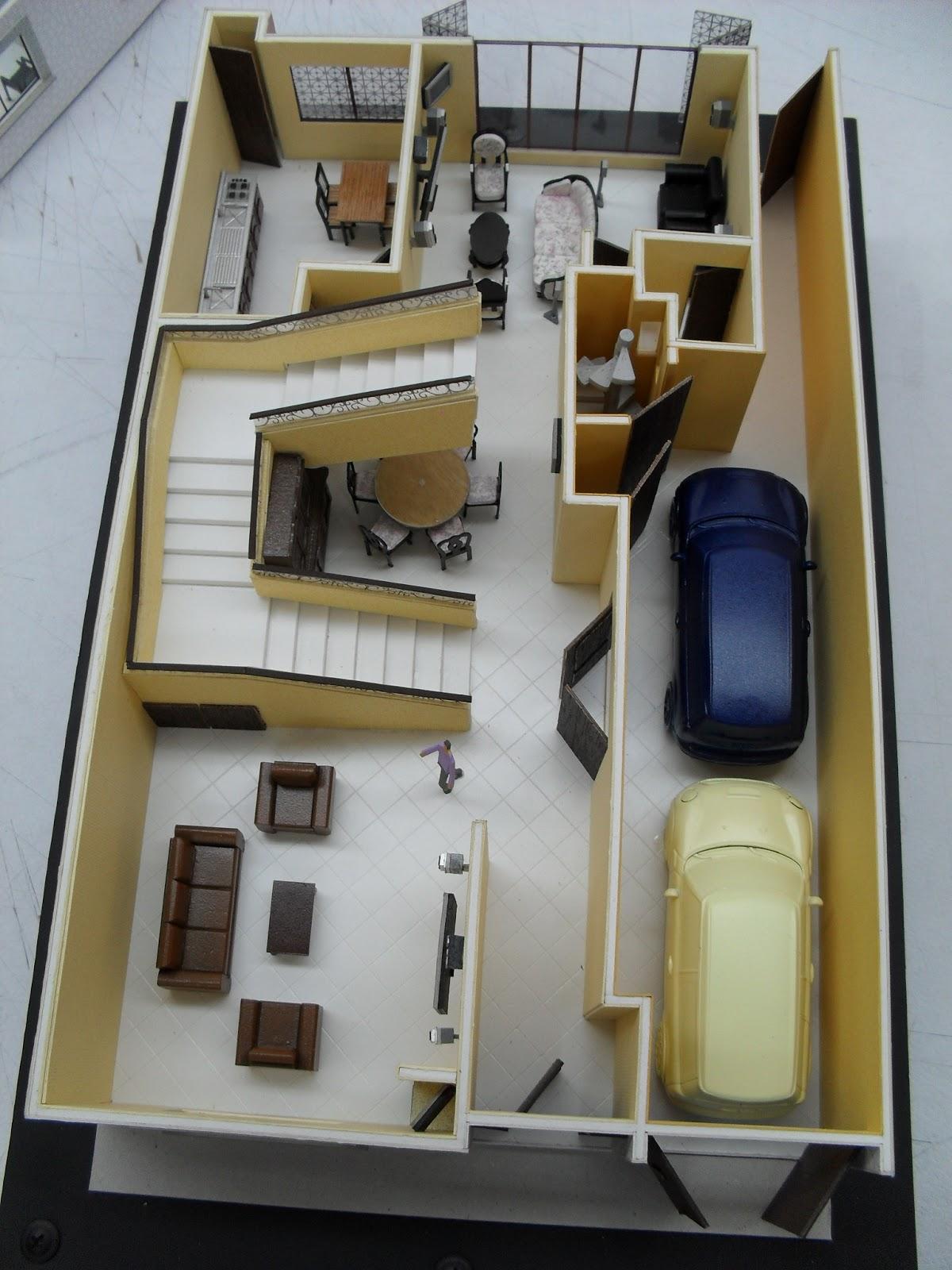 Maqueta Desmontable De Casa Habitacion