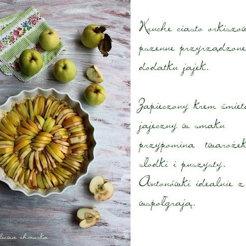Tarta z jabłkami pod pierzynką
