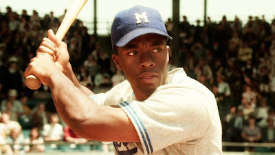 Chadwick Boseman stars as Baseball legend Jackie Robinson in 42