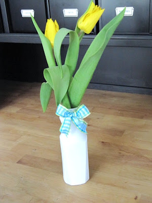 recycled juice bottle vase