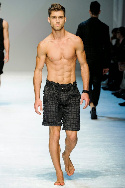 he male model andr233 ziehe make a winkled smile and splash