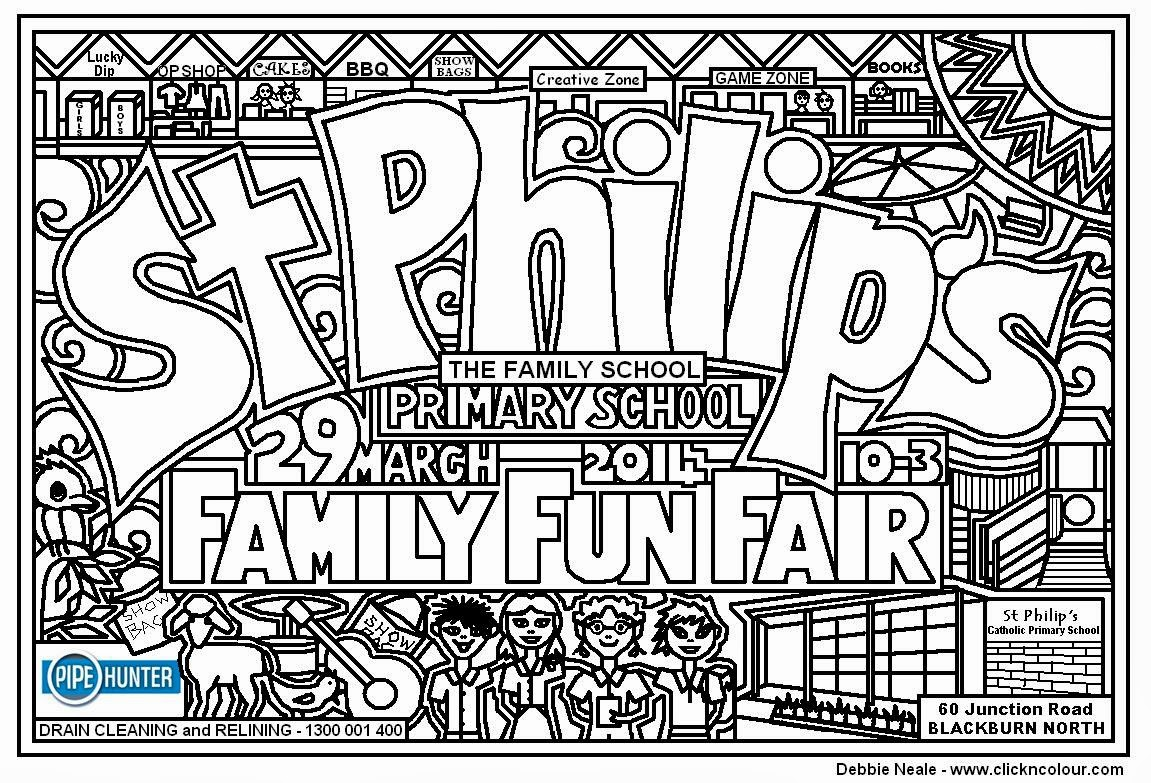 fun fair coloring pages - photo#34