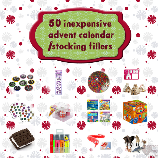 Advent Calendar Ideas For Girls : Inexpensive advent calendar stocking fillers