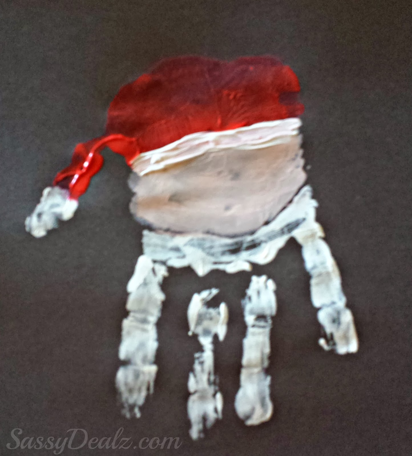 Santa Claus Handprint Art Project For Christmas