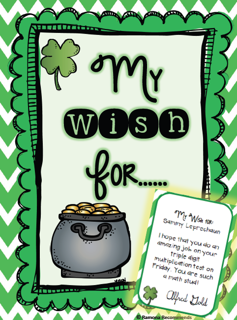 http://www.teacherspayteachers.com/Product/St-Patricks-Writing-and-RAK-activity-1134405