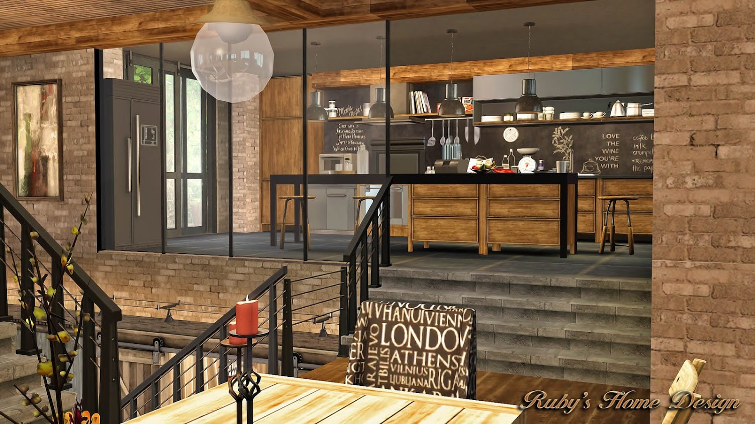Sims3 Industrial Chic 工業風住宅 Ruby S Home Design