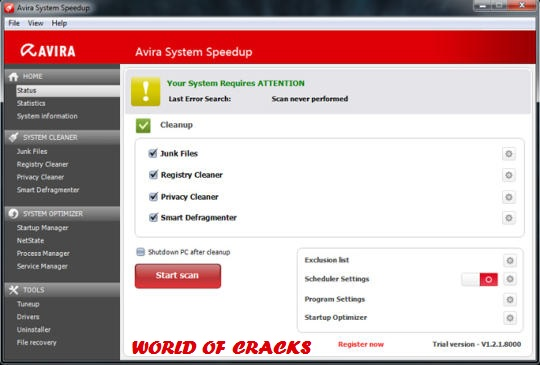 Avira System Speedup v 1.2.1.8300 Full Version Screenshot
