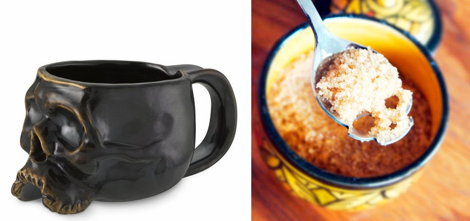 Desayuno creativo Halloween - calaveras