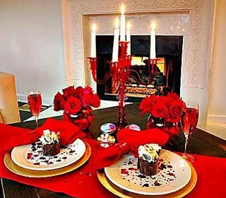 San Valentín, Día de los Enamorados, Decoración de Mesas, parte 1