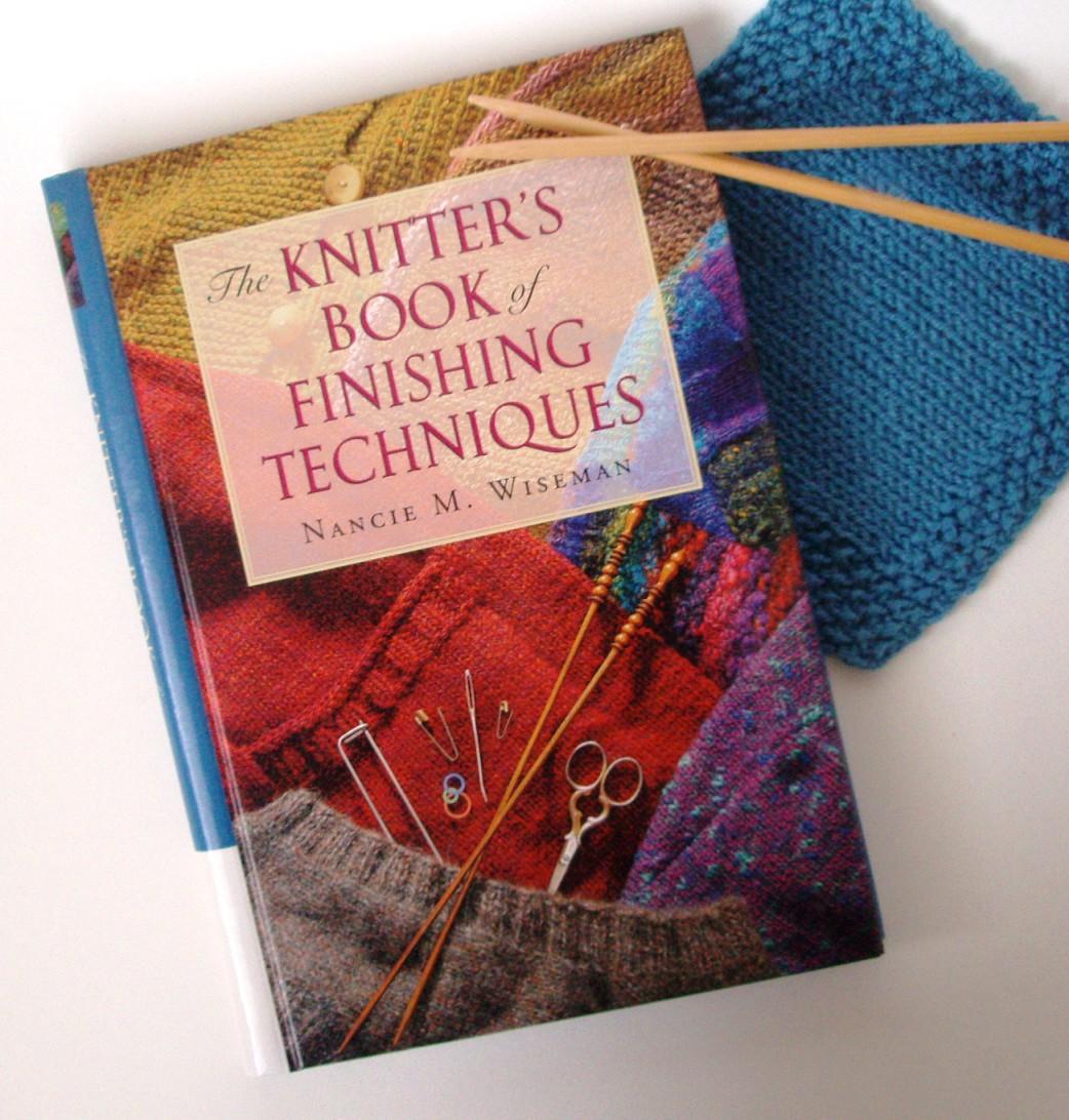 Knitting Techniques Finishing : Knitting work in progress books finishing techniques