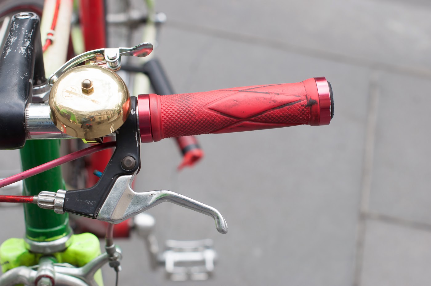 Pub bike, bike, bicycle, conversion, road bike, tim macauley, the biketorialist, Melbourne, Australia, swanston st, handlebar, bell