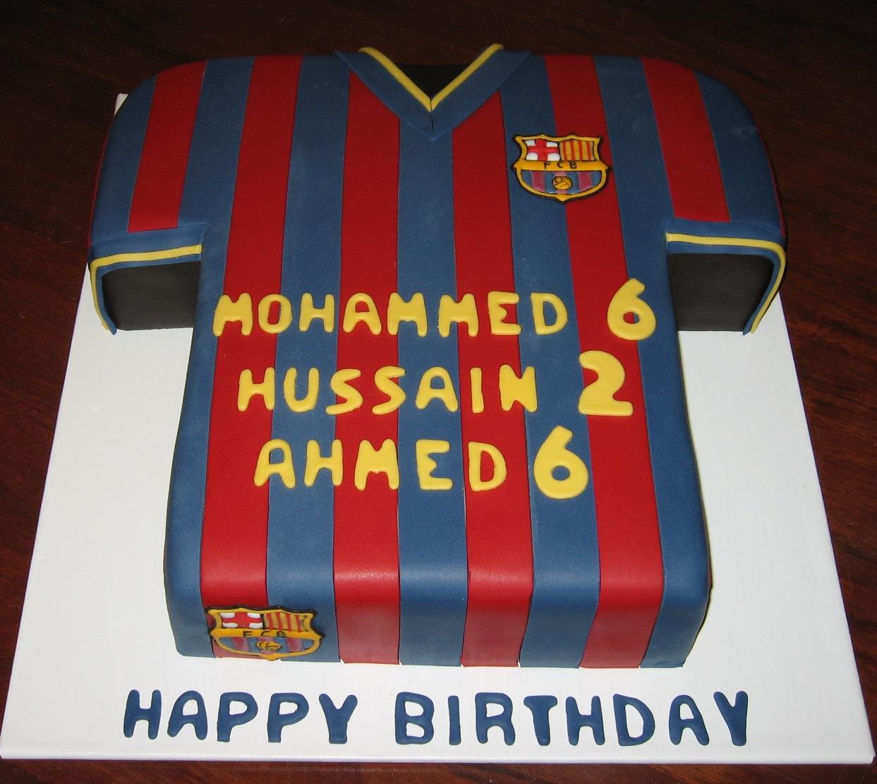 Barcelona Football Shirt Barcelona Football Shirt Cake