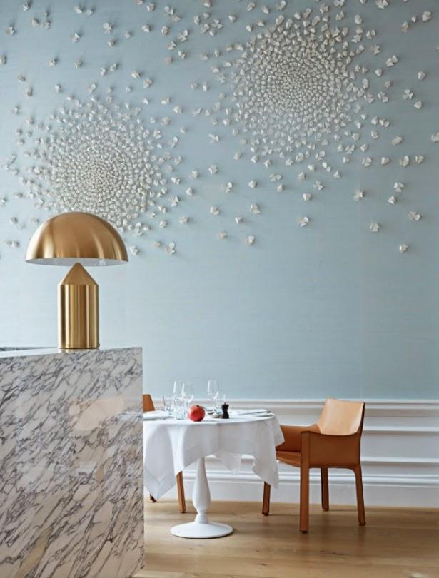 decoracion restaurante moderno azul claro