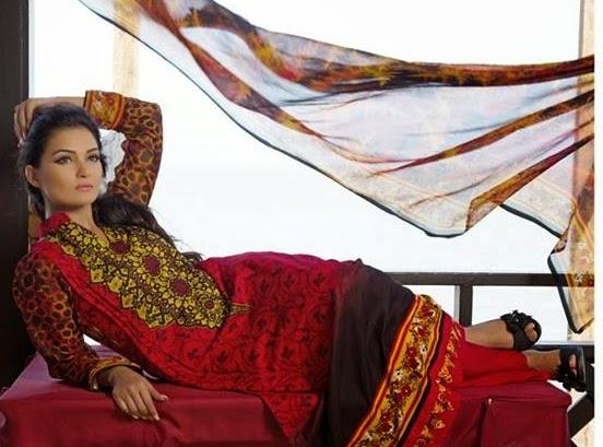 Suman Ayesha Lawn 2014 Vol-04