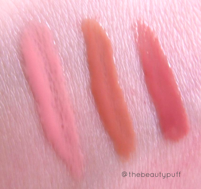 gallany cosmetics lucite lips swatches - the beauty puff