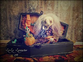 Delia and Vinny Coffin Art Doll LuLusApple