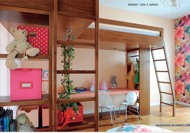 decoracao alternativa de apartamento:Uma alternativa pra economizar espaço é fazer uso de beliches. Você