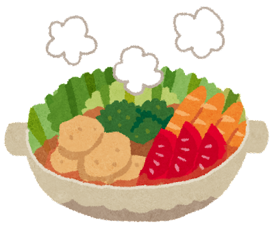 トマト鍋のイラスト