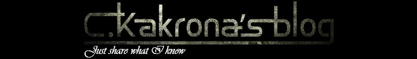 C.Kakrona's blog