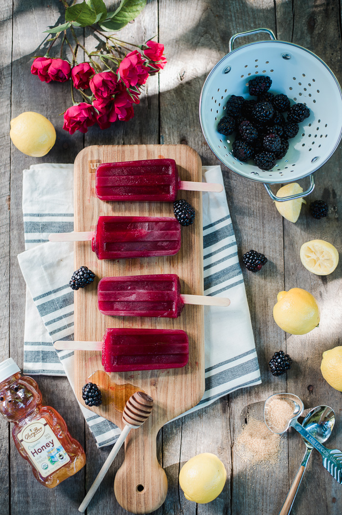 blackberry popsicles