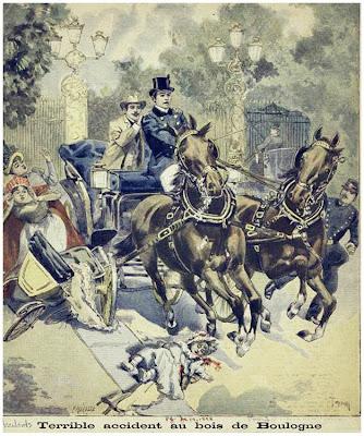 Terrible accident au bois de Boulogne. 1898