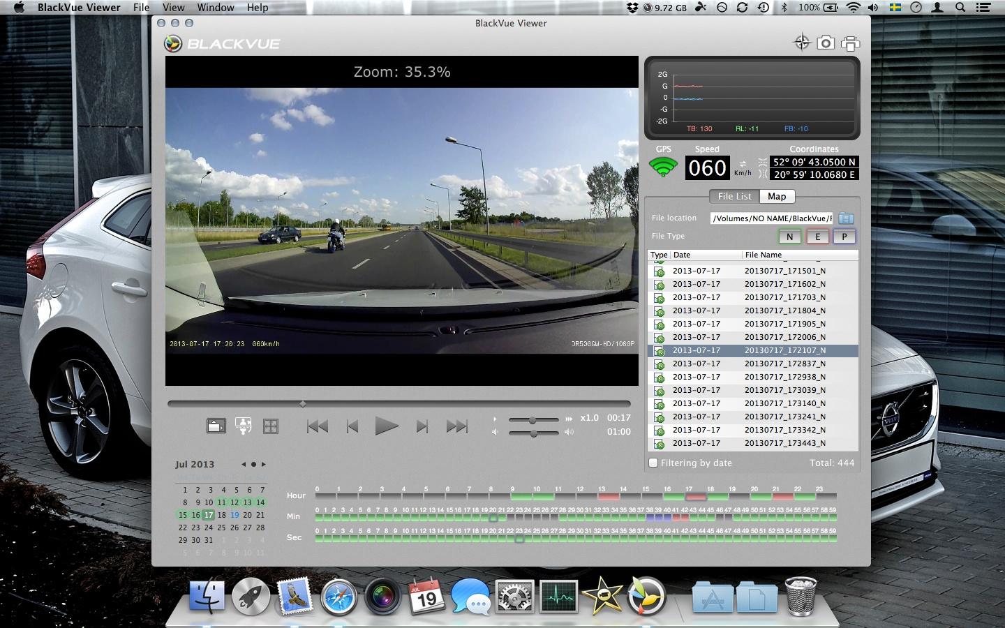 Dashcam My V40 Blackvue R 100 I Have Not Found An Option In The Mac Software To Export Or Save Videos Which Is A Shame Instead Locate And Copy Selected Using Finder