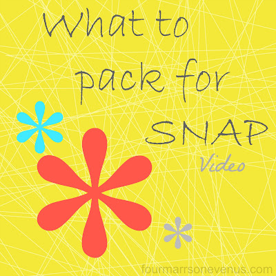 What to pack for SNAP #snapconf #snapsnippets