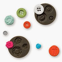 Set of 2 molds (Button and Flower shape) for Stampin'UP!'s Polymer Clay