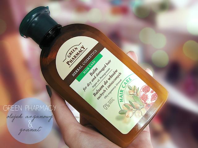 Green Pharmacy balsam do włosów suchych i zniszczonych z olejem agranowym i granatem
