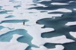 Κάλυμμα πάγου στην Αρκτική Θάλασσα στο Βόρειο Πόλο