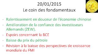 actualités bourse 20/01/2015