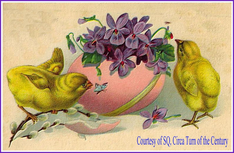 One Of Our Favorite Antique Easter Postcards All Time Embossed With Flocked Chicks German Turn The Century Courtesy SQ Click On Photo