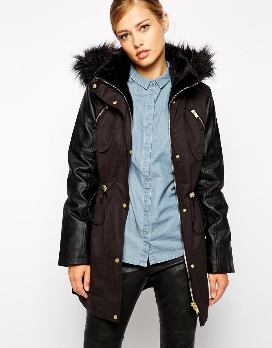 oasis fur hood coat